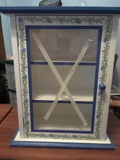 New Blue Floral cabinet