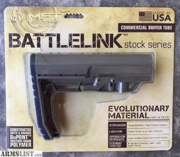For Sale: Mission First Tactical Battlelink Minimalist Stock Commercial, Scorched Dark Earth BMS-SDE