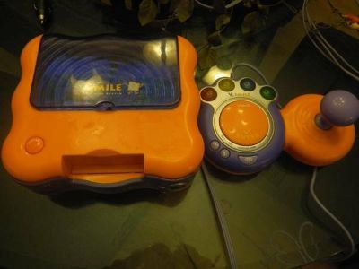 vtech v.smile tv learning system w/6 games