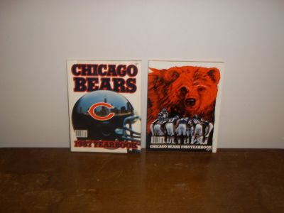 1987 and 1988 Chicago Bear's Yearbooks