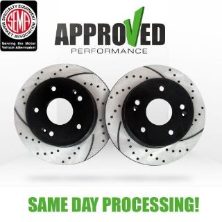 Sell Front Premium Drilled and Slotted Performance Brake Rotors motorcycle in Elk Grove Village, Illinois, United States, for US $111.08
