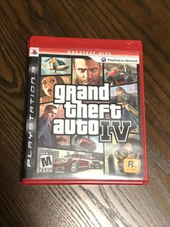 PlayStation 3 PS3 Grand Theft Auto IV Video Game