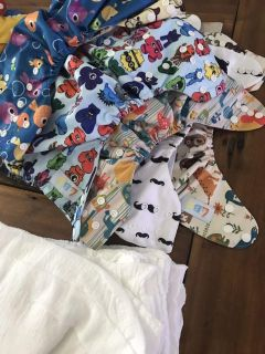 Cloth diaper and inserts