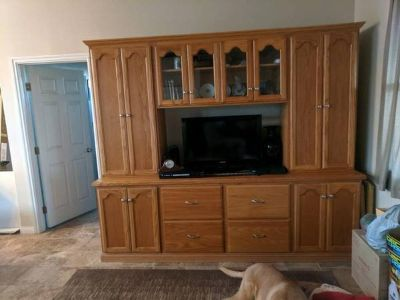 Honey Oak Entertainment Center