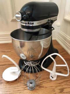 Black KitchenAid Stand Mixer