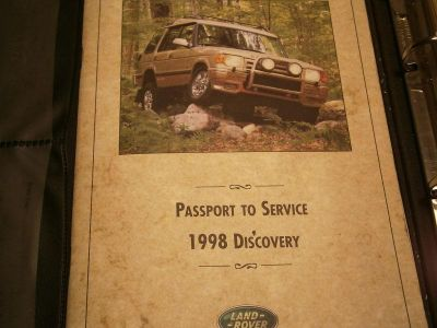 Purchase 1998 LAND ROVER DISCOVERY OWNERS MANUAL GUIDE OEM / WARRANTY motorcycle in North Miami Beach, Florida, US, for US $44.98