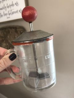 Nut chopper. Would be adorable for decor in a kitchen