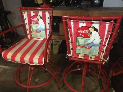 Coca Cola Table and chair set with matching bar