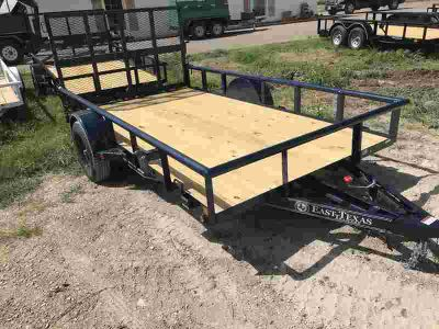 2018 East Texas Trailers | 6.5'x12' | Utility Trailer | Single Axle | Blue | Bi-
