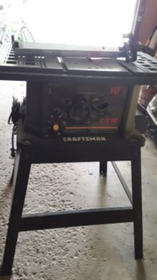 "10"" Craftsman Table saw 2.5 HP"