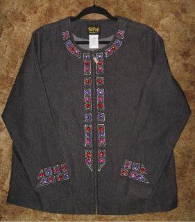 *~~~ Bob Mackie ~ Wearable Art ~ Embroidered Jeweled Jacket ~~~*