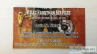Velez Handyman Services Open Days a week