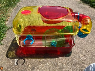 Tiny Tales Hamster/Mouse Cage (Accessories, Food, Bedding included)