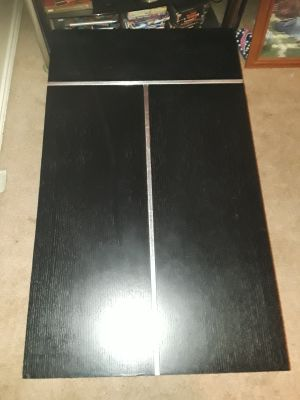 Black with silver trim coffee table