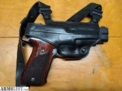 For Sale: Sig P220 Elite with Rosewood Grips and Shoulder Holster