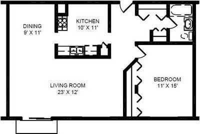 $1020 1 apartment in North Suburbs
