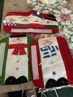 Christmas refrigerator handle covers and over handle cover