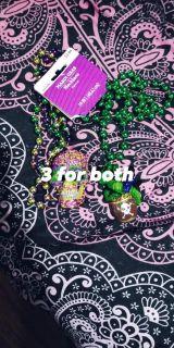Mardi gras necklaces