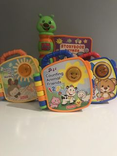Fisher price toddler books light up and talk