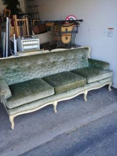 French Provincial Style Tufted Sofa