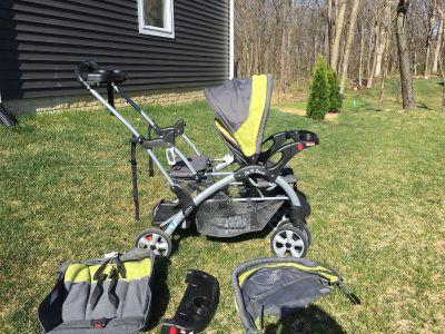 Sit N Stand Double Stroller-Baby Trend