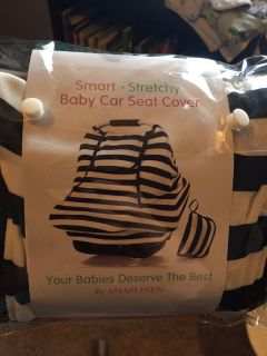 Stretchy multi use car seat cover - used twice