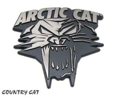 Purchase Arctic Cat 2014 Cathead Stick-On Plastic Car Emblem - Chrome / Black - 5243-016 motorcycle in Sauk Centre, Minnesota, US, for US $5.99