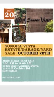 Multi-Family Garage Sale, Scottsdale