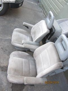 vanagon front seats w/adjustable arm rest