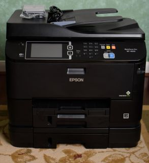 Epson WorkForce Pro WF-4640 Wireless Color All-in-One Inkjet Printer- Print, Copy, Scan, Fax, $50