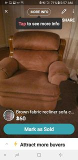 Lounge chair goes around good condition moving please reserve to save for u in 2 weeks be available