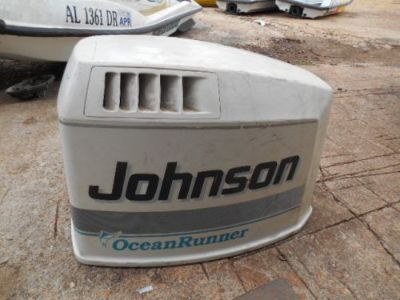 Find M12 JOHNSON 150HP V6 OCEAN RUNNER ENGINE COWLING MOTOR TOP COVER WHITE COWL motorcycle in Camp Hill, Alabama, United States, for US $269.95
