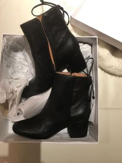 brand new leather ankle boots