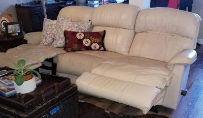 La-z-boy three seater recliner sofa and loveseat. Price is $750 or best offer.