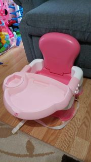 Pink booster seat