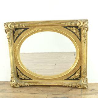 Antique Gilt Framed Round Mirror