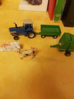 Metal tractor and trailer lot.
