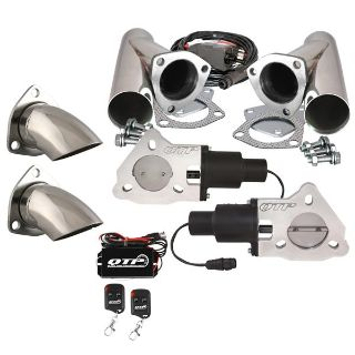 "Find QTP QTEC50CPSK2 Dual 2.5"" Electric Exhaust Valves SS Cutouts Turn Downs Remotes motorcycle in Suitland, Maryland, US, for US $578.88"