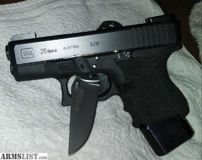 For Sale/Trade: Gen 4 glock 26 with upgrades and extras