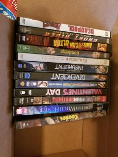 DVDs all like new watch only a few times 2.00 each or all for 20.00