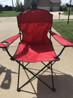 Camping chair in bag. Porch pickup in Morton.