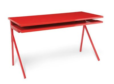 Lacquered Red Blu Dot Desk 51