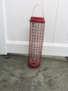 "19"" Red Bird Feeder"