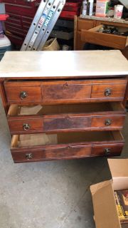 Dresser with stone top