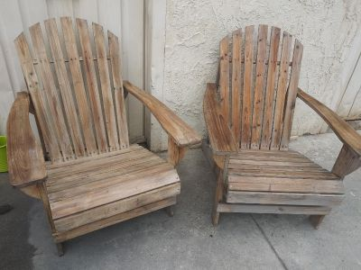 All Wood lightly stained Chestnut Brown Patio Chairs