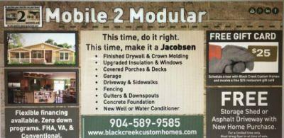 JACKSONVILLE FLORIDA MOBILE OR MODULAR HOMES