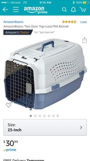 BRAND NEW Amazon Pet Kennel, bought wrong size and too expensive to return! My loss your gain, still in the box!