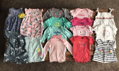 Lot of baby girl clothes