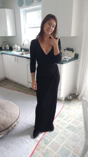 Beautiful long ajusted black dress
