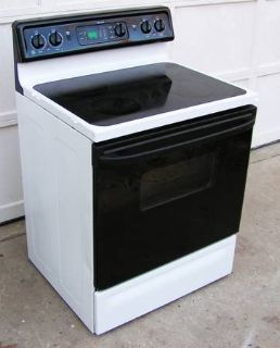 Range Stove Electric- Glass Top By Frigidaire-White
